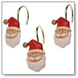 Santa Claus Shower Curtain Hooks