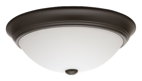 Lithonia 11983 Bz M2 Décor Round Flush Mount Ceiling Light, Bronze