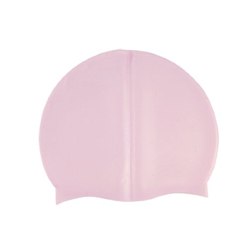 Adult Swimmer Pink Soft Silicone Dome Shape Swimming Cap Hat