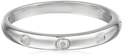 10k White Gold Diamond Band (0.05 cttw, I-J Color, I2-I3 Clarity), Size 7