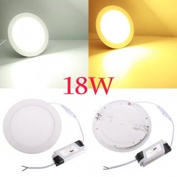 Bheema 18W Round Ceiling Ultrathin Panel Led Lamp Downlight Light 85-265V - White