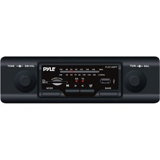Pyle Plr14mpf In-Dash Am/Fm-Mpx Mp3 Shaft Style Dual Knob Radio with Usb/Sd Card