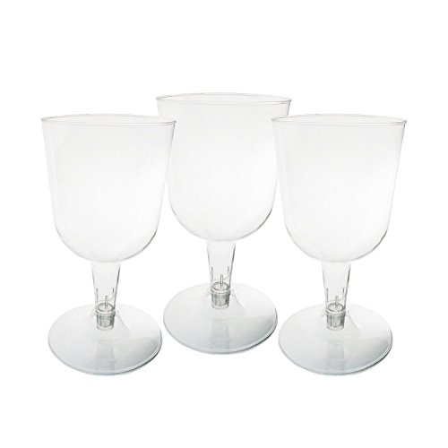 40 Count Plastic Wine Glasses