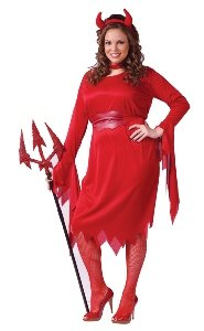 Delightful Devil Costume - Plus Size 1X/2X - Dress Size 16-20