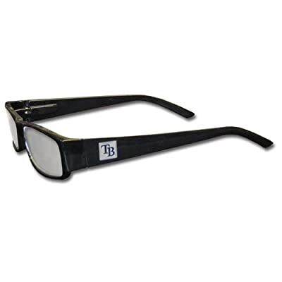 MLB Black Reading Glasses, +2.50, Tampa Bay Rays