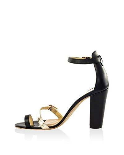 L37 Sandalo Con Tacco Sparkle