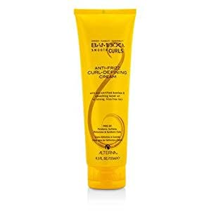 Alterna Bamboo Anti-Frizz Curl-Defining Cream for Unisex, 0.33 Pound