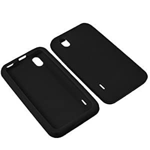 Eagle Cell SCLLS855S01 Barely There Slim and Soft Skin Case for LG Optimus S/Optimus U/Optimus V - Retail Packaging - Black
