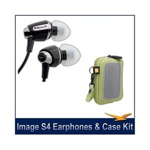 Klipsch Image S4 In-Ear Enhanced Bass Noise-Isolating Headphones Bonus Pack