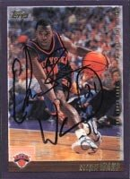 Charlie Ward New York Knicks 2000 Topps Autographed Hand Signed Trading Card. by Hall of Fame Memorabilia