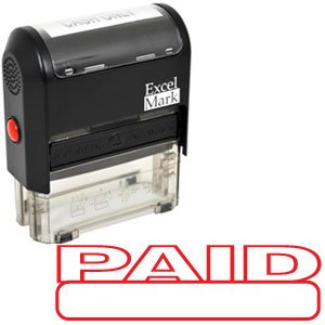 PAID Self Inking Rubber Stamp - Red Ink (42A1539WEB-R)