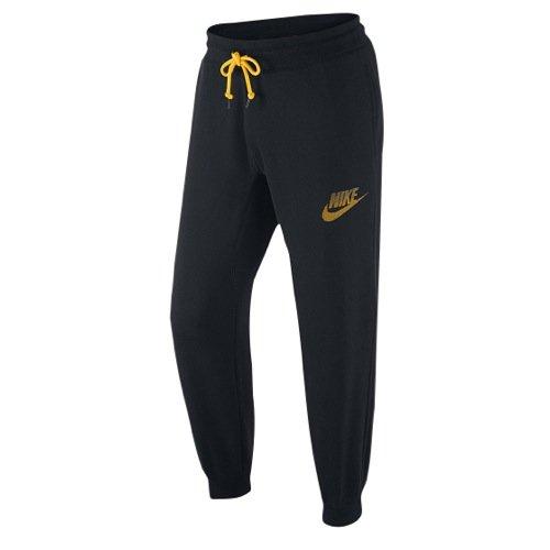 Nike mens AW77 FLC CUFF PANT-FUTRA 678517-010_L - BLACK/LASER ORANGE (Nike Slides Orange And Black compare prices)