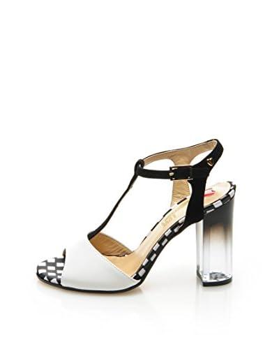 Love Moschino Sandalo Con Tacco D.Lav34/95 [Nero/Bianco]