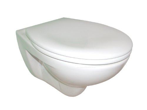 wand wc ceravid tiefsp ler mit hochwertigem wc sitz absenkautomatik per knopdruck abnehmbar. Black Bedroom Furniture Sets. Home Design Ideas