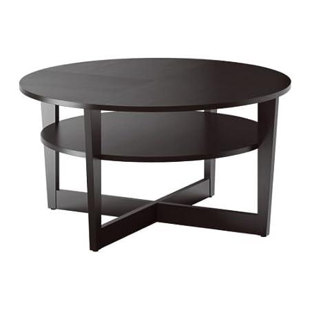 IKEA VEJMON - Mesa de centro, negro-marrón - 90 cm