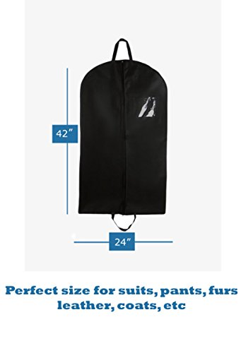 Bags for Less 40-Inch Foldover Breathable Garment Bag with Handles and Gusset - Black (Mens Garment Bag compare prices)