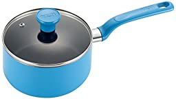 T-fal C96924 Excite Nonstick Thermo-Spot Dishwasher Safe Oven Safe PFOA Free Covered Sauce Pan Cookware, 3-Quart, Blue