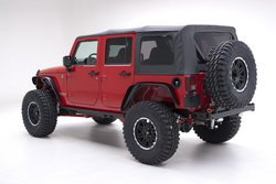 Smittybilt 9970235 Black Diamond OE Style Replacement Top with Tinted Window for Jeep Wrangler from Smittybilt