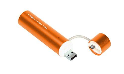 SP2600M-OR Power Tube 2600 mobiler Zusatzakku mit Micro-USB-Adapter für Handy Smartphone MP3-Player Navigationsgeräte PSP NDS Wii U orange