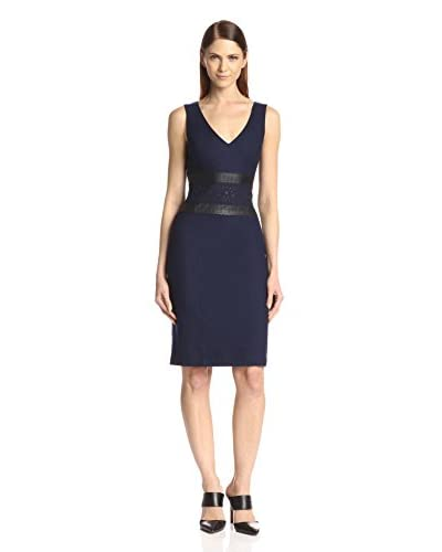 Susana Monaco Women's Frankie Faux Leather Waist Sheath Dress