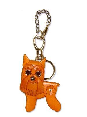 VANCA Craft Mascot Leather Dog Bag Purse Charms * MINIATURE SCHNAUZER *