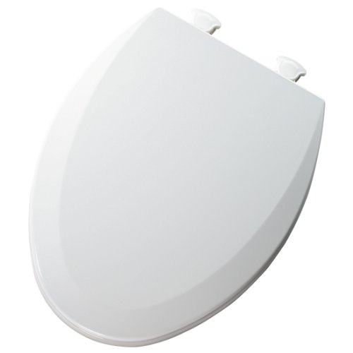Mayfair 146ECDG 000 Molded Wood Toilet Seat with Lift-Off Hinges and DuraGuard, Elongated, White