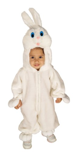 Forum Novelties Baby's Bunny Wabbit Toddler Costume, White