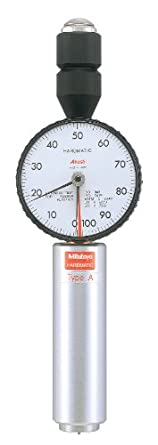 "Mitutoyo 811-333 Dial Durometer Tester for Shore D Scale, 0.7"" Diameter Pressure Foot, Sharp Point Tip"