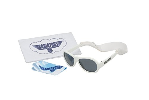 Babiators Gift Set - Wicked White Original Sunglasses (Age 0-3) and Accessories Pack