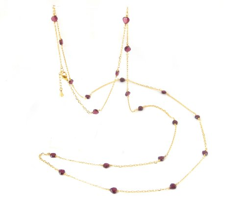 Rosalie Garnet Long Strand Necklace