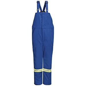 Mens Bulwark FR Insulated Bib Overall w  Reflect Trim - Nomex® IIIA 6 oz D by BULWARK FR Clothing