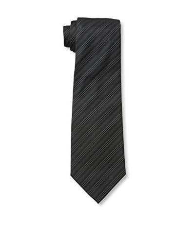 Givenchy Men's Stripe Tie, Dark Grey/White