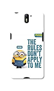 Techster Printed Rules Dont Apply To Me Case For One Plus One