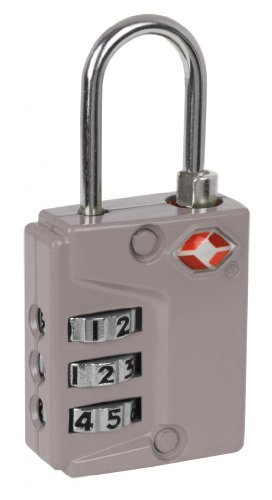 米国運輸保安局(TSA)承認  ダイヤル式  旅行荷物用コンビネーションロック (ホワイト)