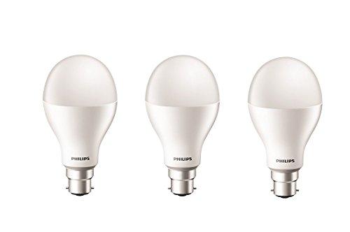 Philips Stellar Bright 20W B22 LED Bulb (Cool Day Light, Pack Of 3)