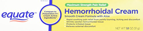 Equate Maximum Strength Pain Relief Hemorrhoidal Cream, 1.8-Ounce Tube
