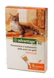 ADVANTAGE SPOT ON 40 per gatti/conigli fino a 4kg. 11214