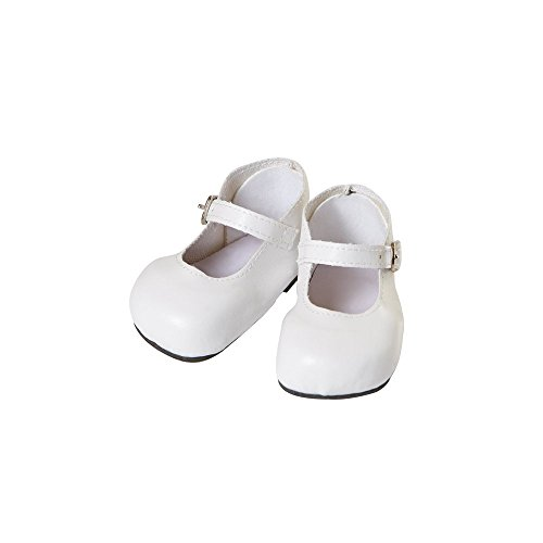 "20"" Doll Mary Jane Shoes in White - 1"