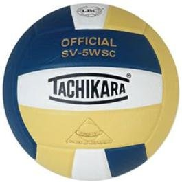 Tachikara Composite Volleyball - Sensi-Tec SV-5WSC, Colored Color: Navy/white/vintage Gold