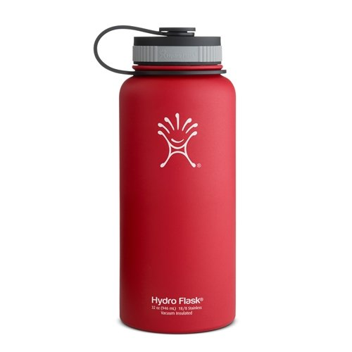 Hydro Flask Insulated Wide Mouth Stainless Steel Water Bottle, Lychee Red, 32-Ounce front-923433