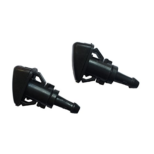 Car Storm Windshield Washer Nozzle Wiper Spray Kit Universal fit for Dodge Caliber 2007-2012, for 2005-2010 Jeep Grand Cherokee with Gasket Pack of 2 (Windshield Washer Nozzle Cover compare prices)