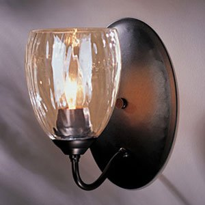 Simple Glass Wall Sconces : Simple Lines Single Wall Sconce With Water Glass by Hubbardton Forge - - Amazon.com