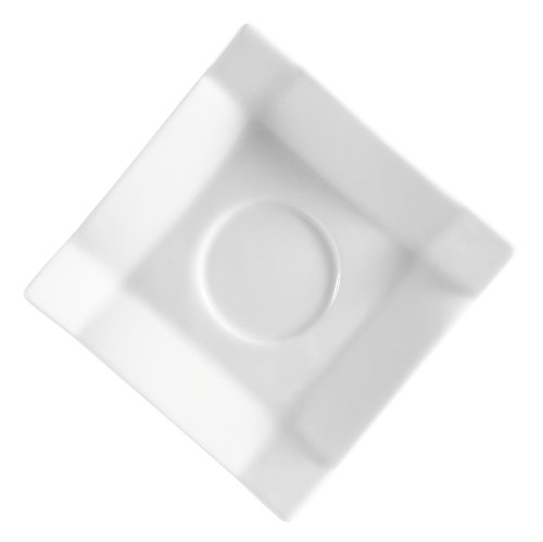 CAC China TMS-36 Times Square Super White Porcelain Saucer, 4-Inch, Box of 36