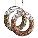 Songbird Essentials 008073 Whole Peanut Wreath Feeder - Red, 13 Diameter