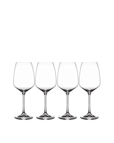 Jay Imports Set of 4 Giselle White Wine Glasses, Clear