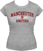 Manchester United UK JUNIORS Size Ladies Fitted T-shirt