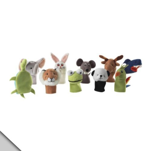 IKEA Titta Djur 10 pc Animal Finger Puppet Set