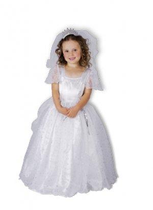 childrens girls toddler bride wedding dress fancy dress costume 2 4