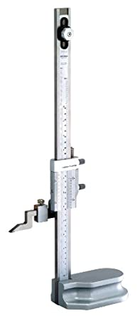 "Mitutoyo 514-103 Vernier Height Gauge, 0-12"" Range, 0.001"" Resolution, +/-0.002"" Accuracy, 3.1kg Mass"