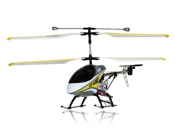 G/S Hobby GS370 3-Channel Aluminum RC Helicopter with Flashlight, Gyroscope (Yellow)